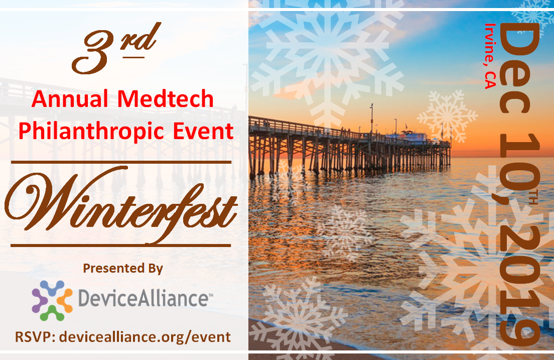 3rd Annual MedTech Holiday Philanthropic Event: WINTERFEST